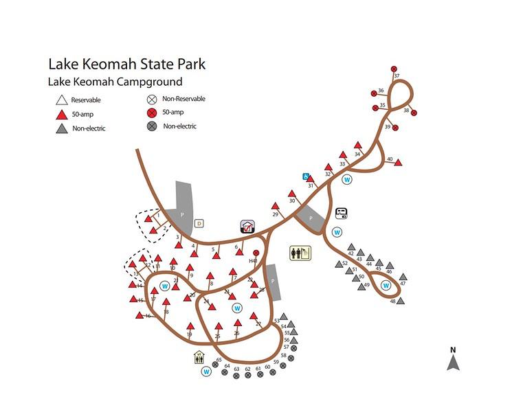 Lake Keomah State Park (Campground Map)