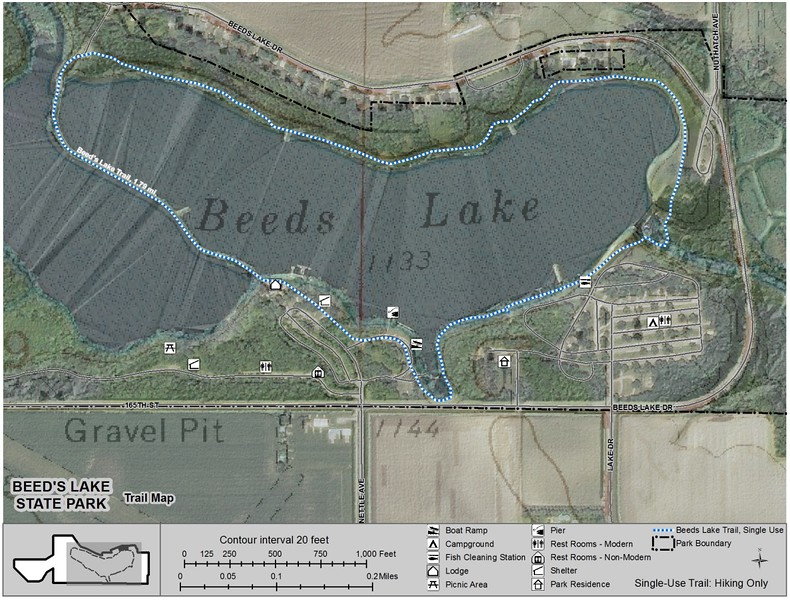 Beed's Lake State Park (Trail Map)