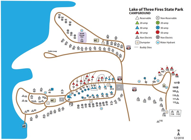 Lake of Three Fires State Park (Campground Map)