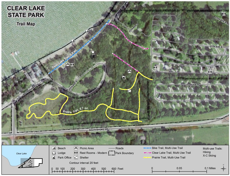 Clear Lake State Park (Trail Map)