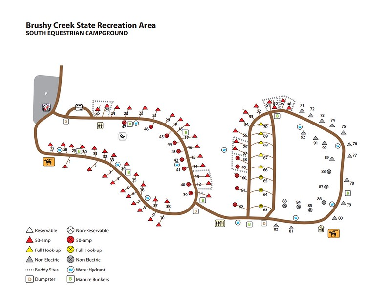 Brushy Creek State Recreation Area (South Equestrian Campground)