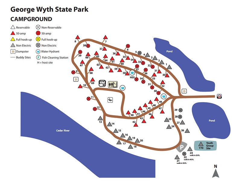 George Wyth State Park (Campground Map)