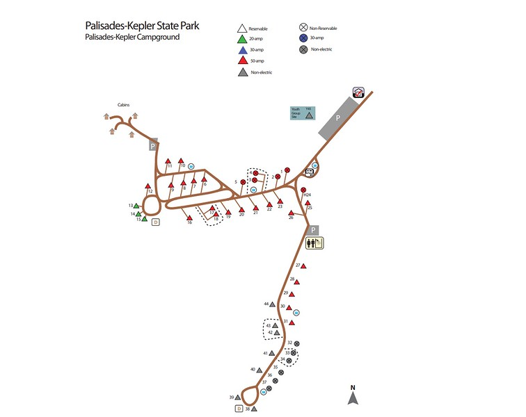 Palisades-Kepler State Park (Campground Map)