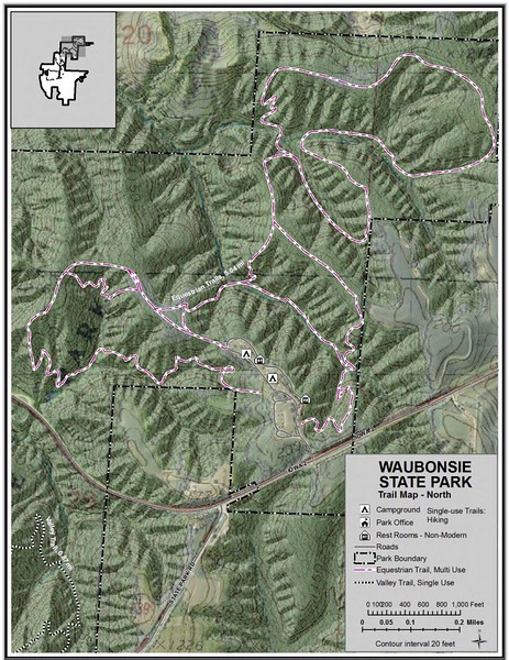 Waubonsie State Park (Trail Map - North)
