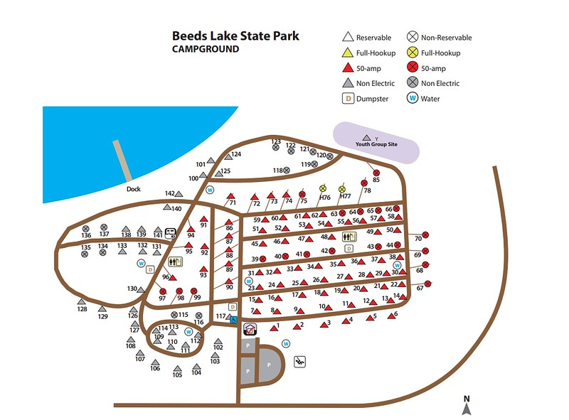 Beed's Lake State Park (Campground Map)