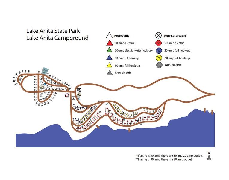 Lake Anita State Park (Campground Map)