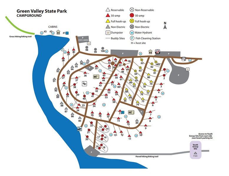 Green Valley State Park (Campground Map)