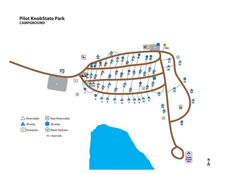 Pilot Knob State Park (Campground Map)