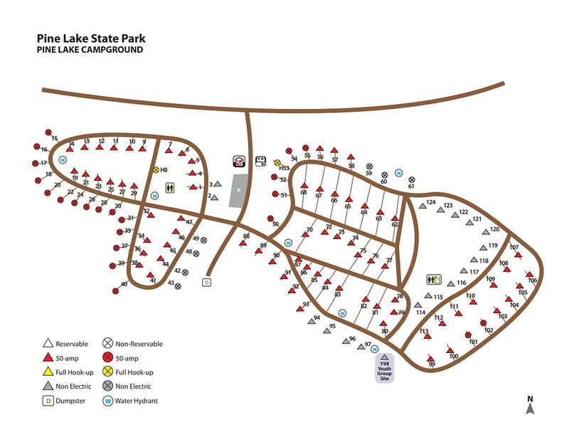 Pine Lake State Park (Campground Map)