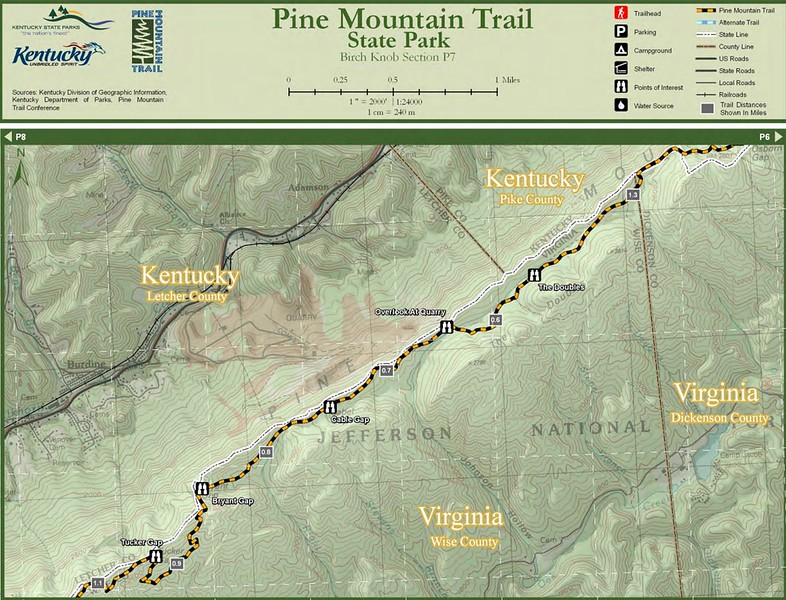 Pine Mountain State Scenic Trail -- Birch Knob Section (P7)
