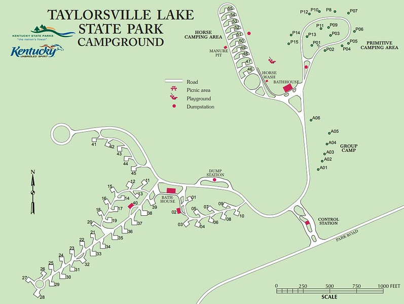 Taylorsville Lake State Park (Campground Map)