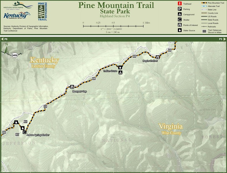 Pine Mountain State Scenic Trail -- Highland Section (P4)