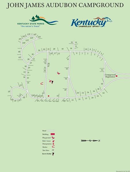 John James Audubon State Park (Campground Map)