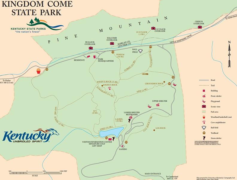 Kingdom Come State Park (Trail Map)