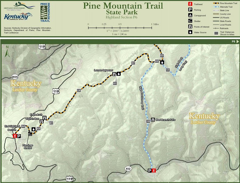 Pine Mountain State Scenic Trail -- Highland Section (P6)