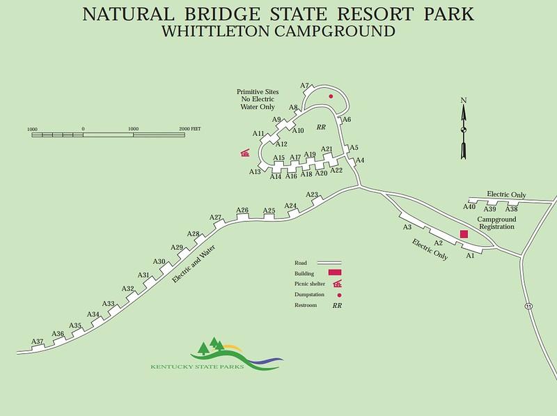Natural Bridge State Resort Park (Whittleton Campground)
