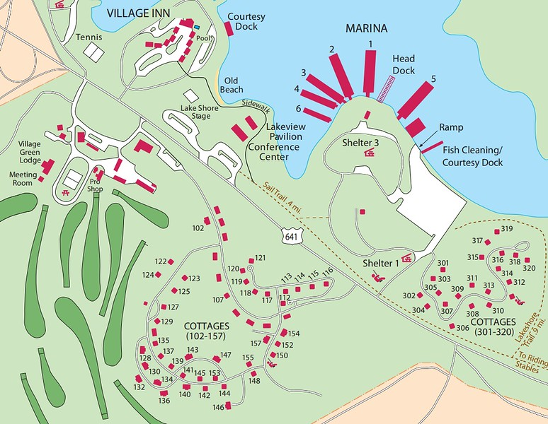 Kentucky Dam Village State Resort Park (Accommodations Map)