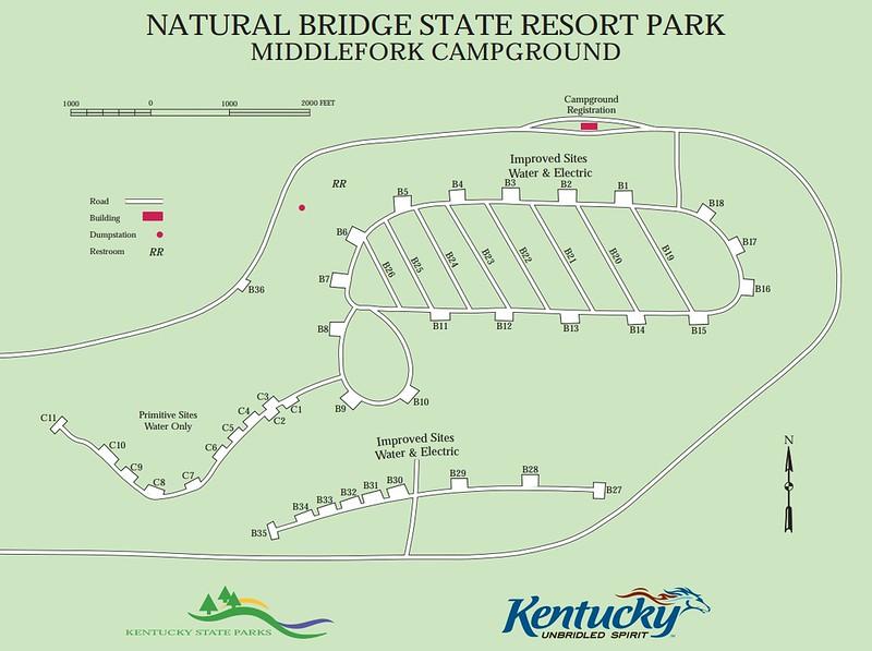 Natural Bridge State Resort Park (Middlefork Campground)