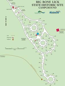 Big Bone Lick State Historic Site (Campground Map)