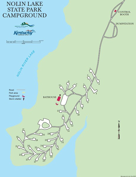 Nolin Lake State Park (Campground Map)