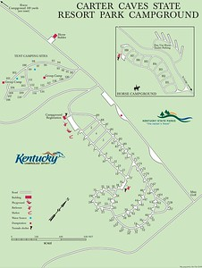Carter Caves State Resort Park (Campground Map)