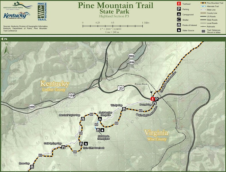 Pine Mountain State Scenic Trail -- Highland Section (P3)