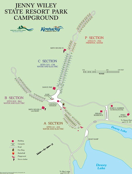 Jenny Wiley State Resort Park (Campground Map)