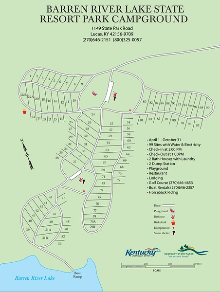 Barren River Lake State Resort Park (Campground Map)