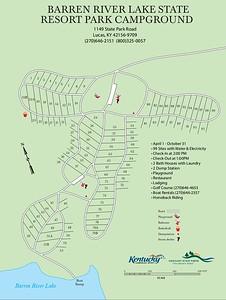 Barren River Lake State Resort Park (Campground Map)