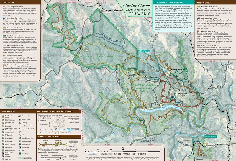 Carter Caves State Resort Park (Trail Map)