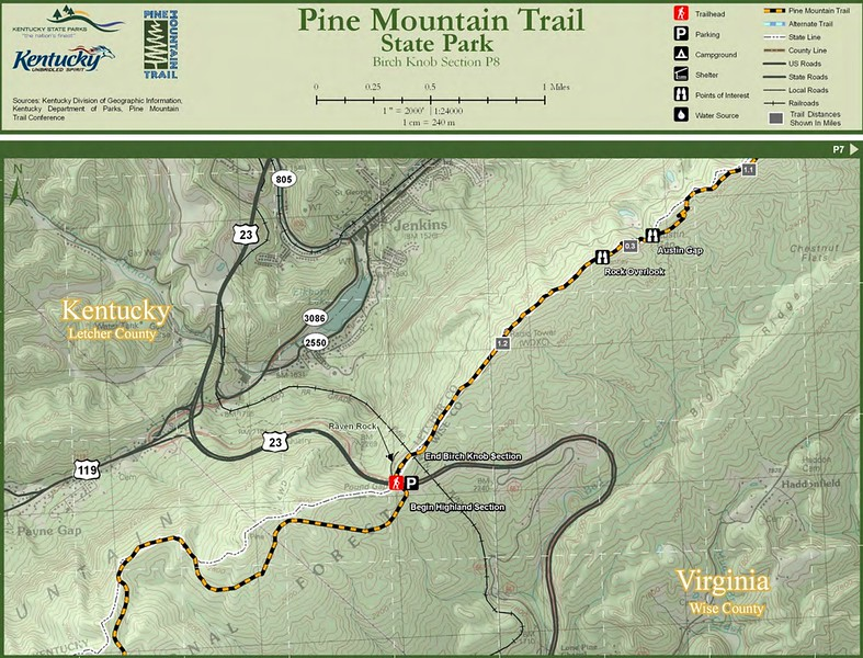Pine Mountain State Scenic Trail -- Birch Knob Section (P8)