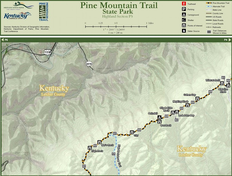Pine Mountain State Scenic Trail -- Highland Section (P5)