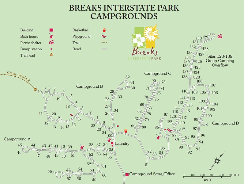 Breaks Interstate Park (Campgrounds Map)