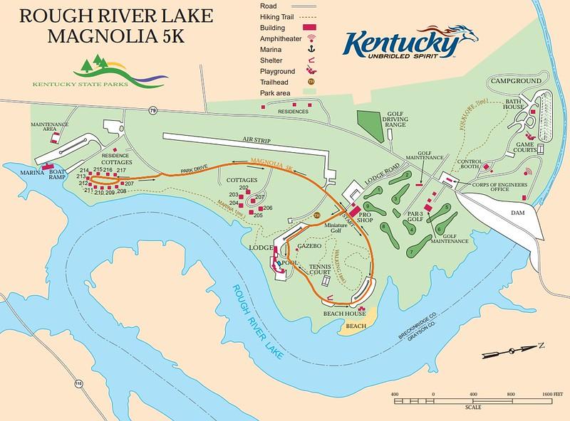 Rough River Dam State Resort Park (Magnolia 5K Map)