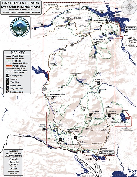 Maine State Park Maps - dwhike