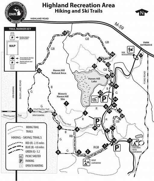Highland Recreation Area (Trail Map)