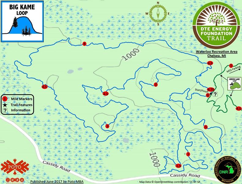 Waterloo Recreation Area (Big Kame Loop Trail)