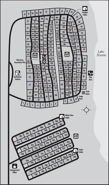 Lakeport State Park (Campground Map)