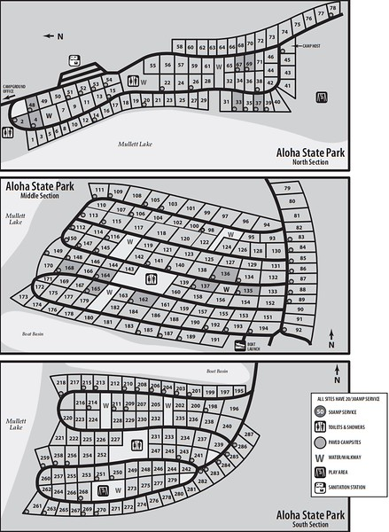 Aloha State Park (Campground Map)