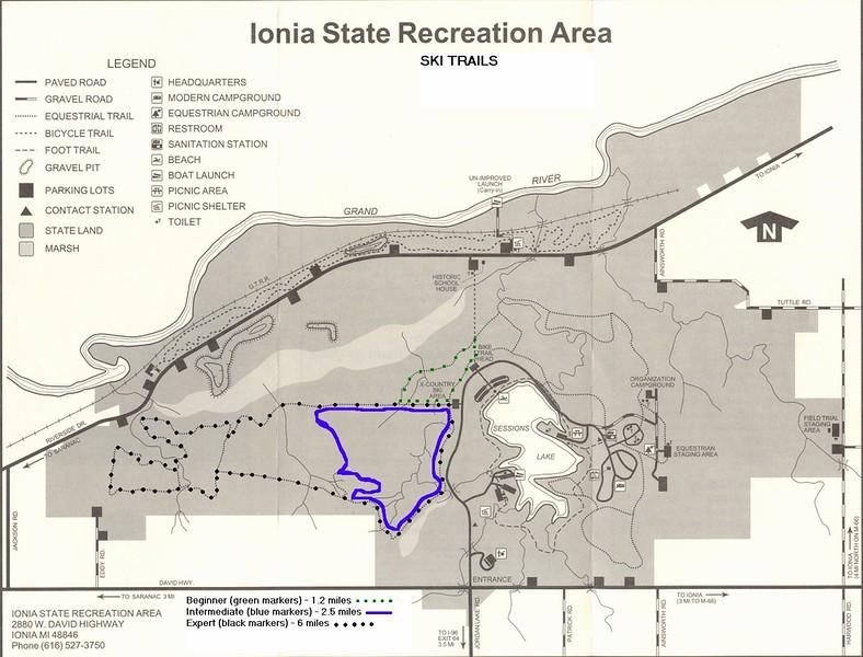 Ionia State Recreation Area (Ski Trails)