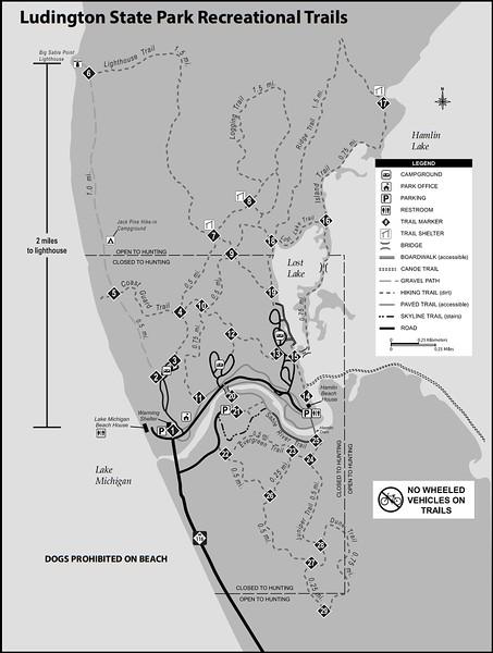 Ludington State Park (Trail Map)