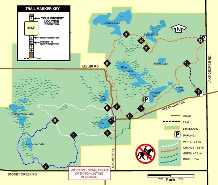 Bald Mountain State Recreation Area (Trails - North)