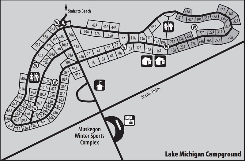 Muskegon State Park (Lake Michigan Campground)