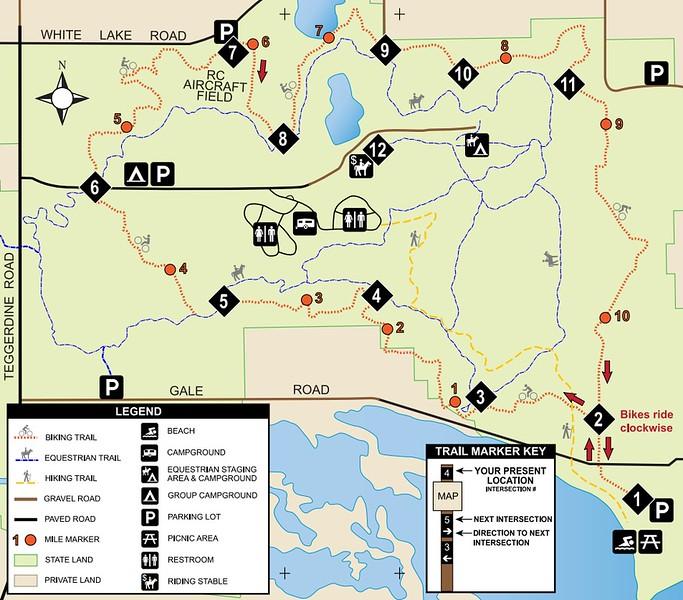 Pontiac Lake Recreation Area (Bike Trails)