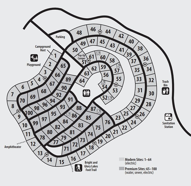 Hartwick Pines State Park (Campground Map)