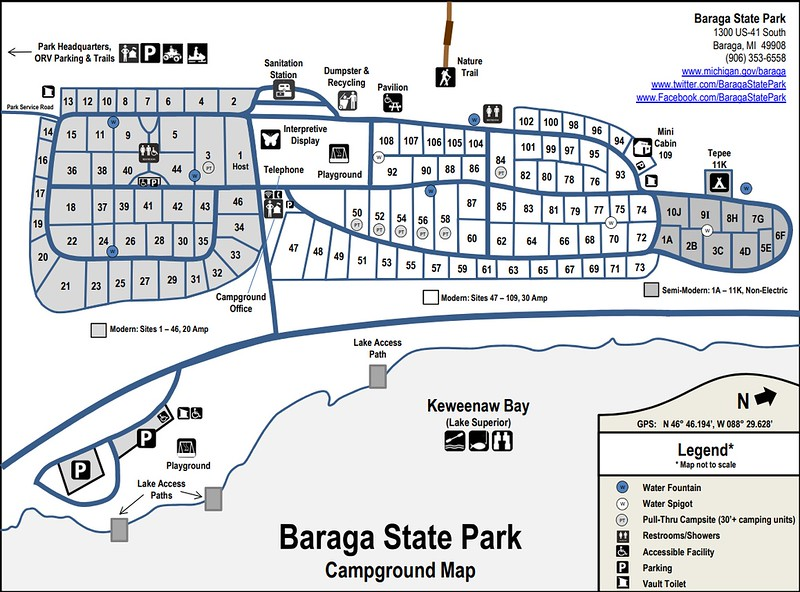 Baraga State Park (Campground Map)