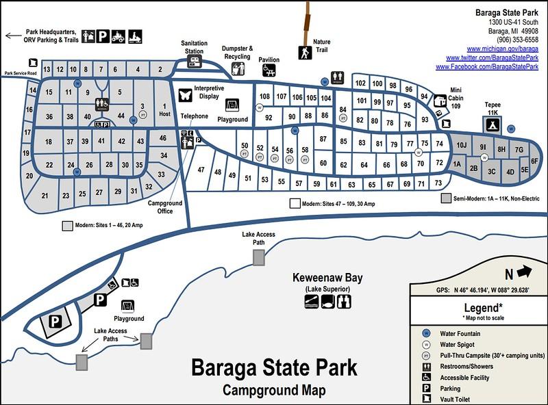 Baraga State Park (Campground Map)