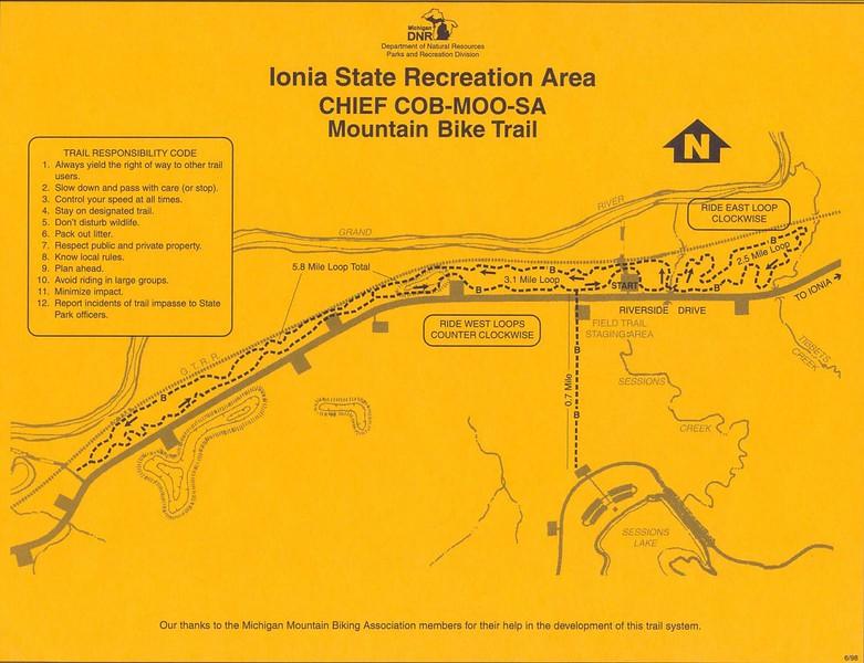 Ionia State Recreation Area (Chief COB-MOO-SA Trail)