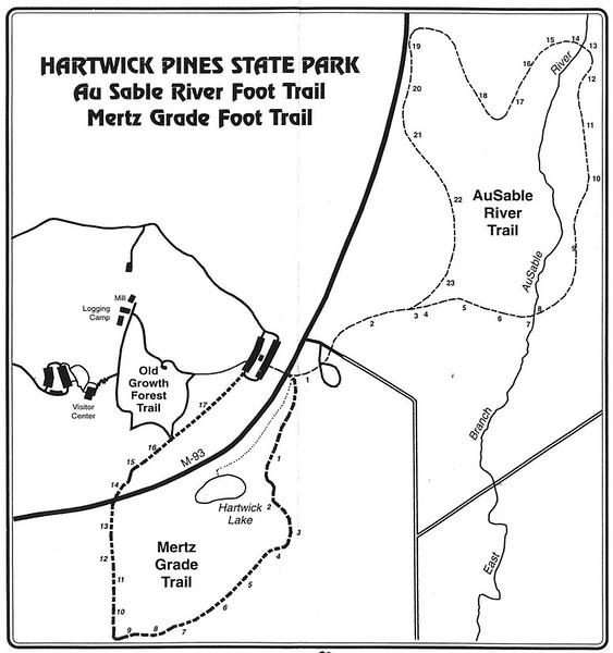 Hartwick Pines State Park (Au Sable River & Mertz Grade Trails)