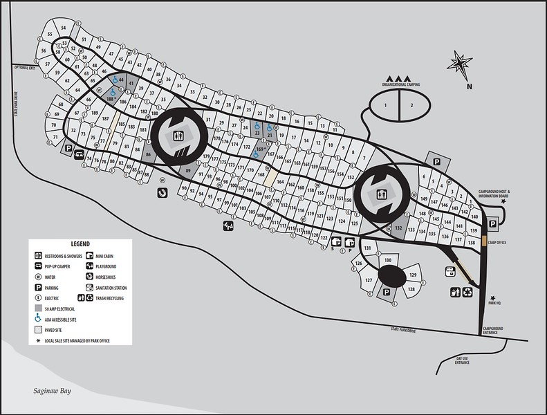Bay City State Recreation Area (Campground Map)